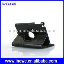 For iPad Mini rotational pu leather case crocodile pattern
