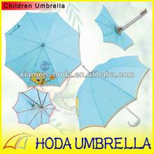 Light Blue Duck Straight Children Umbrella Aluminium
