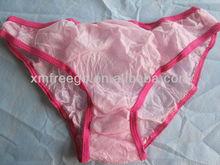 Pink disposable ladies' underwear