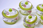 Enamel Cookware casserole set fading color popular in Vietnam