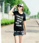 customed printed new design 100 cotton aeropostale women t shirts