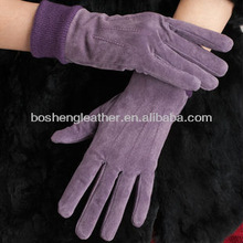 2014 soft multcolor pig suede skin for gloves leather