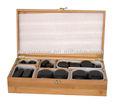 caliente de piedra con masaje de bambú o de caja de madera