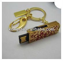 Keychain Metal/Crystal Mini USB Flash Stick/pen drive