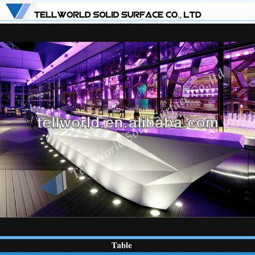 Diamant section unique design pur acrylique hall de l 39 h tel bar contre tables de bar id du - Moderne lounge en voormalig ...