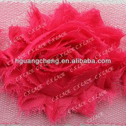 rose chiffon lace flower applique