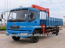 DFD5161JSQT truck with 5ton/7ton/8ton hydraulic telescopic boom mobile crane manufacturer