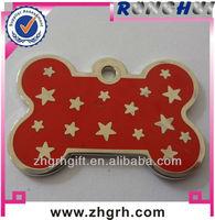 Red bone star metal dog tag maker/supplier/manufactory/wholesaler