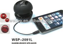 Hotselling aluminum full featured microSD/TF USB mini speaker