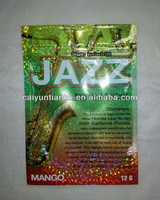 12g New Jazz potpourri smoke bags with zipper/Mango Jazz aromatic potpourri product/Mango Jazz herbal incense shiny bags