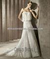 2012 venda quente frete grátis strapless corpete bordado uma linha mangas pavimento comprimento bom e barato elegante longo vestido de casamento