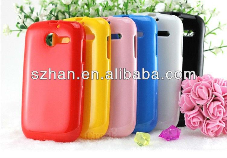 New Soft Crystal soild TPU case For Huawei U8666 Ascend Y201