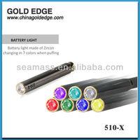 Health multi colored e-cigarette 510 x clear atomizer starter kit