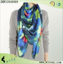2013 Opal Silk Design Print Scarf For Lady
