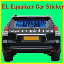Russian Market Hot Selling EL Equalizer Car Sticker/ EL Decal/ EL Window Cling