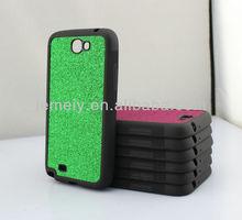 For samsung N7100 PU encapsulation Stick a skin shimmering powder case