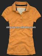 2013 Hot selling women polo shirts ,100% cotton polo shirts,women fashion t-shirts