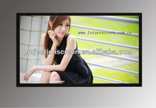 front, rear, 3D silver Fixed Frame projectionScreen,The movie enthusiasts best choice screen, Black velvet ,high quality