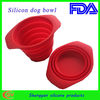 Non-stick and unbreakable folding silicone dog bowls