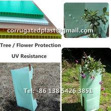 Translucent Green Plastic Tree Guards