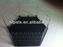 small animal play pen with black PVC floor