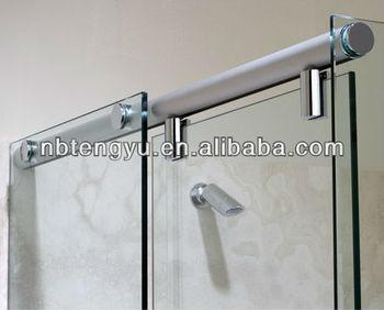 Frameless sliding shower screens