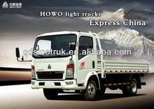 sinotruk howo 115hp 4x2 light truck for sale
