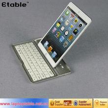 Wireless Bluetooth keyboard Aluminum Case for iPad mini Aluminum keyboard Case with holder