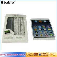 Best selling super-slim new bluetooth keyboard,wireless Aluminum keyboard case for iPad mini