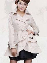 Designer women white leather trench coats