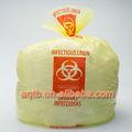 El color amarillo de riesgo biológico médico bolsa de residuos( eliminación de desechos médicos bolsa)