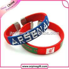Cheap custom woven bracelet from china