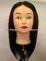 """16'' - 18"""" 100% coiffure coupe de cheveux humains de formation pratique hn1402 style tête noire"""