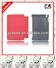 2013 innovative design detachable smart cover leather case for ipad mini
