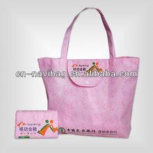 reusable folding shopper tote bag(NV-F174)