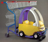 Top Quality!!! Supermarket children plastic cart with toy car Direct From Factory YD-026