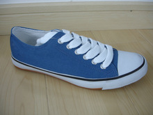 Simple Blue Men Canvas Basketball Shoes Manufacturer