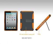 Kickstand Double Layered Hybrid Hard and Soft Skin TPU Case for iPad mini