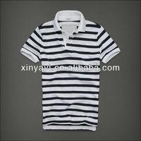 men's strip polo t shirts, 2013 hot selling t-shirt, wholesale polo t shirt