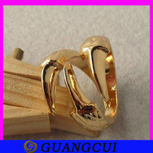 fashion shiny hotsale gold dragon eagle claw ring jewelry for young boy