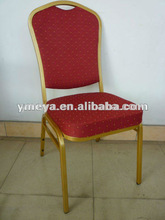 cheap metal frame stackable hotel banquet chair/hotel dining room chairs/used hotel furniture (YT2026-1)