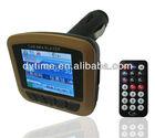 LCD Wireless Car 12V MP4 MP3 Player FM Transmitter SD MMC USB
