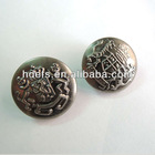 fashion brass button with shank back for garment