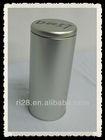 Round empty tea tin can