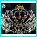 Cristal da coroa da rainha para venda colorido rhinestone princesa tiara coroa