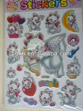 2013 fly cat Crystal sticker acrylic sticker