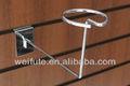 de metal ganchos slatwall estante de exhibición