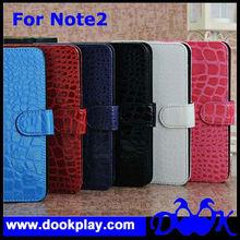 Designer Crocodile Flip Leather Cover for Samsung Galaxy Note2 7100 Case