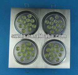 alibaba china high power 48w rectangular led downlight,square led ceiling light,square led down light ztl