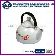 Porcelain enameled tea kettle